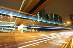 Moderne städtische Stadtnacht Stockbild