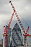 Moderne 30 St Mary Axe Royalty-vrije Stock Foto's