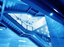Moderne staaltrap Royalty-vrije Stock Fotografie