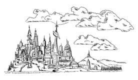 - moderne Stad Royalty-vrije Stock Afbeeldingen