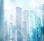 Moderne stadsachtergrond vector illustratie