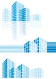Moderne stadsgebouwen Stock Afbeeldingen