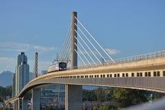 Moderne Stadsspoorweginfrastructuur Royalty-vrije Stock Fotografie