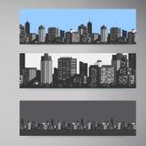 Moderne Stadt der Vektor-Fahne Stockbilder