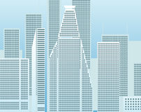 Moderne Stadt morgens Lizenzfreie Stockbilder