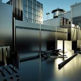 Moderne Stahlfabrik Stockbild
