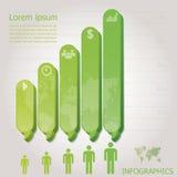Moderne Stangen-Sprache-Blase Infographics Stockbild