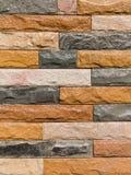 Moderne SteinBacksteinmauer tauchte auf Lizenzfreie Stockfotografie