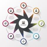 Moderne ster Het malplaatje van het Infographicontwerp Bedrijfs concept Vector illustratie Royalty-vrije Stock Afbeelding