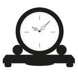 Moderne stijl die zwart-witte klok kijken Stock Foto