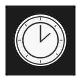 Moderne stijl die zwart-witte klok kijken Stock Afbeelding