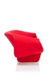 Moderne stijl rode leunstoel Stock Foto's