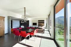 Moderne stijl, woonkamer Stock Foto's