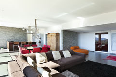 Moderne stijl, woonkamer Royalty-vrije Stock Foto's