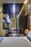 Moderne stijlslaapkamer Royalty-vrije Stock Afbeelding