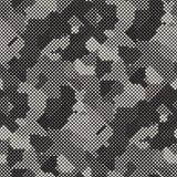 Moderne stilvolle Halbtonbeschaffenheit Endloser abstrakter Hintergrund mit gelegentlichen Größen-Quadraten Vektor-nahtloses Quad lizenzfreie stockbilder