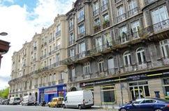 Moderne Straße im alten französischen Stadt Bordeaux Stockbild