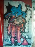 Moderne Straßenkunst - Graffiti Stockfoto
