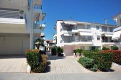 Moderne strandhuizen Royalty-vrije Stock Afbeelding