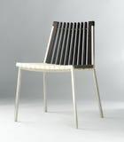 Moderne Stuhlauslegungkombination des Holzes und des Stahls Stockfotografie