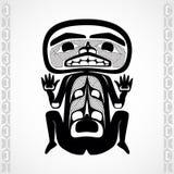 Moderne stylization van Canadese inheemse kunst, een mens Stock Foto