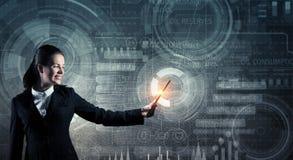 Moderne technologieën van verschillende media Gemengde media Stock Afbeeldingen