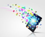 Moderne Technologiemedien Stockbilder