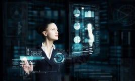 Moderne Technologien gebräuchlich Stockfotografie