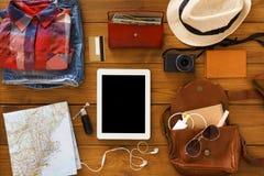 Moderne Technologien und Reisekonzept Lizenzfreies Stockfoto
