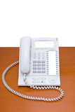 Moderne telefoon op lijst Royalty-vrije Stock Foto's