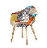 Moderne textielstoel royalty-vrije stock afbeelding
