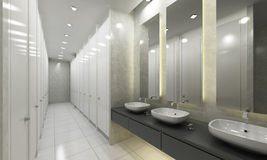 Moderne toilet en toiletten royalty-vrije stock fotografie