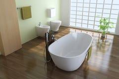 Moderne Toilette Lizenzfreie Stockfotos