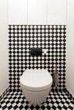 Moderne Toilette Stockbild