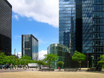Moderne torengebouwen in Brussel Stock Fotografie