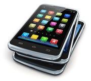 Moderne touchscreen smartphones stock illustratie