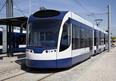 Moderne tram stock foto