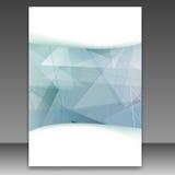 Moderne transparente geometrische Ordnerschablone Stockfotos