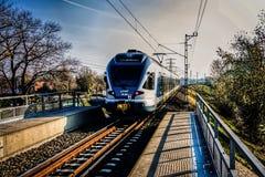 Moderne trein royalty-vrije stock foto's