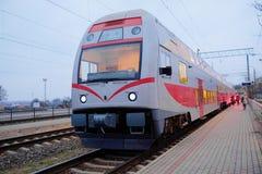 Moderne trein Royalty-vrije Stock Fotografie