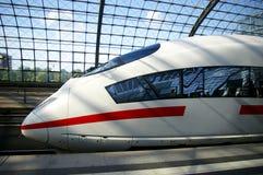 Moderne trein status Royalty-vrije Stock Afbeelding