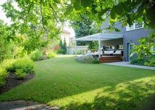 Moderne tuin Royalty-vrije Stock Afbeelding