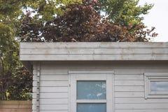 Moderne tuinloods Stock Foto's