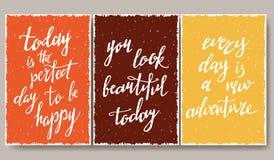 Moderne typografische affiche Royalty-vrije Stock Afbeeldingen