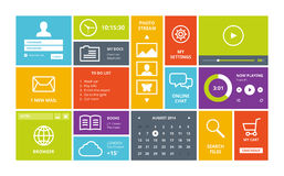 Moderne UI het ontwerplay-out van Windows 8 Stock Afbeelding