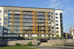 Moderne uitvoerende flats stock foto