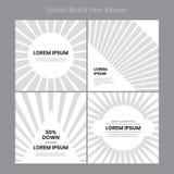 Moderne und elegante Social Media-Posten-Fahnenschablone Minimale instagram Postenfahne vektor abbildung