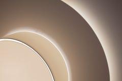 Moderne und futuristische Raum-Beleuchtung Stockfoto