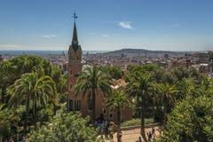 Moderne und historische Architektur in Barcelona Lizenzfreies Stockfoto