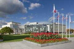Moderne und letzte Architektur in Warschau, Polen Lizenzfreies Stockbild